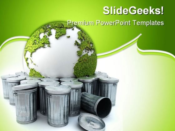 Earth In The Garba Globe PowerPoint Themes And PowerPoint Slides 0211