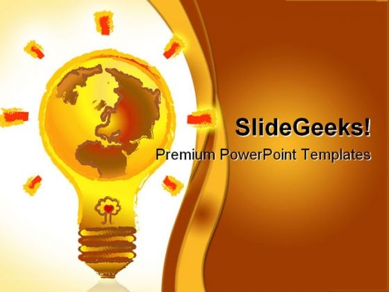 Earth Lamp Business PowerPoint Themes And PowerPoint Slides 0211