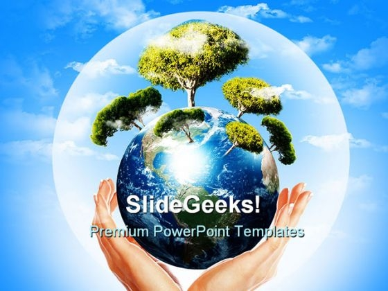 Earth Placing On Hand Environment PowerPoint Templates And PowerPoint Backgrounds 0311