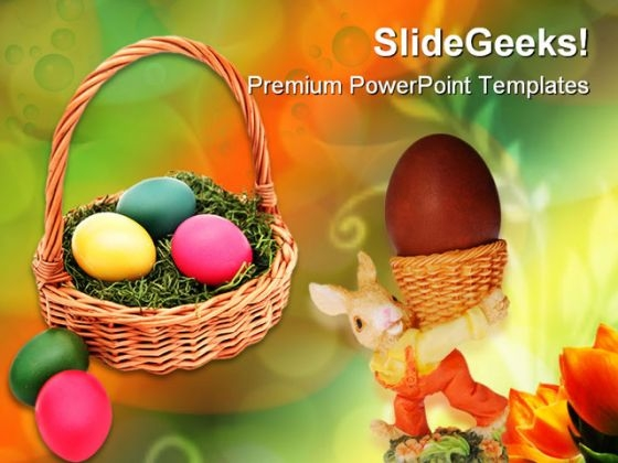 Easter Basket Holidays PowerPoint Themes And PowerPoint Slides 0211