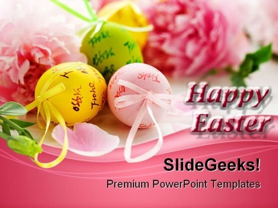 Easter Eggs And Spring Flowers Festival PowerPoint Themes And PowerPoint Slides 0311