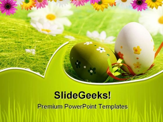 Easter Eggs Festival PowerPoint Backgrounds And Templates 0111
