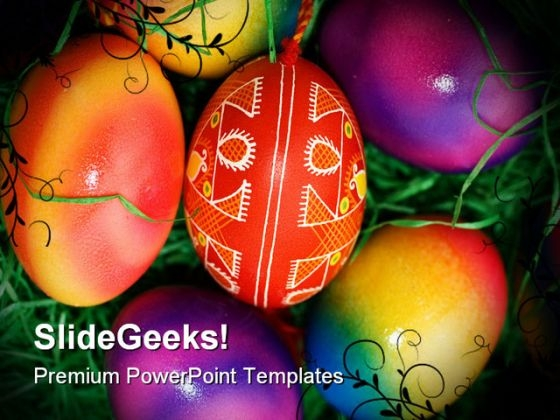 Easter Eggs Nature PowerPoint Themes And PowerPoint Slides 0211