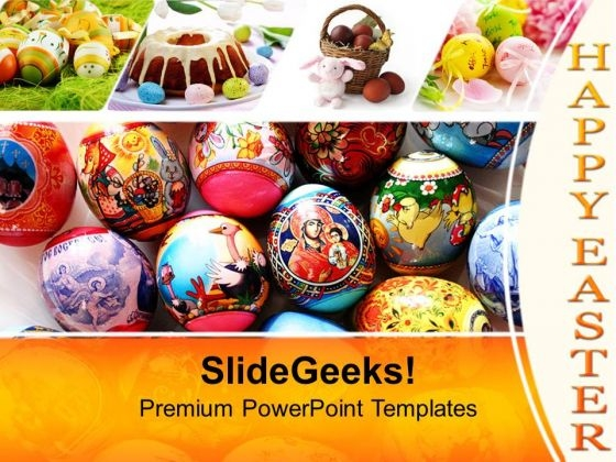 Easter Eggs With Excellent Design PowerPoint Templates Ppt Backgrounds For Slides 0313