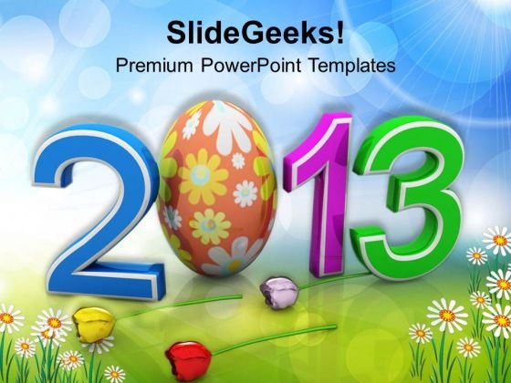 Easter Festival For Year 2013 PowerPoint Templates Ppt Backgrounds For Slides 0313