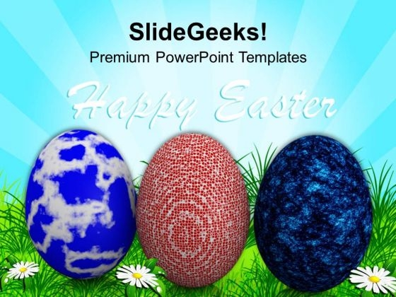 Easter Multicolored Eggs With Bright Theme PowerPoint Templates Ppt Backgrounds For Slides 0313