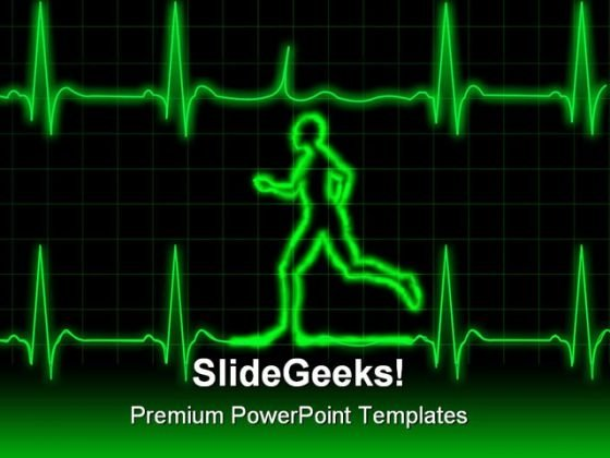 Ecg Runner Sports PowerPoint Template 0610