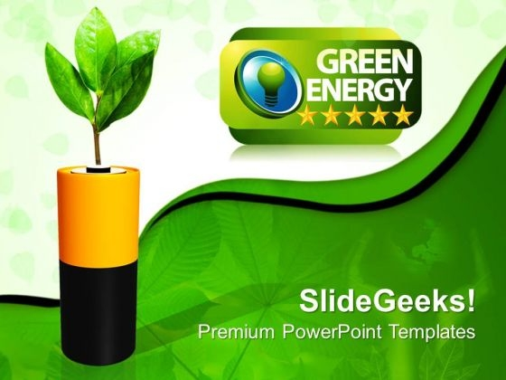 Ecology Power Green Energy PowerPoint Templates And PowerPoint Themes 0812