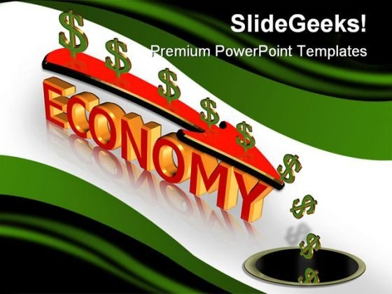 Economic Crisis Recession Business PowerPoint Background And Template 1210