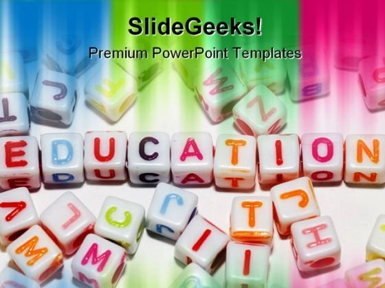 Education Abstract PowerPoint Template 1110