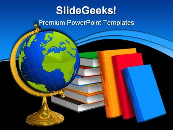 Education Concept Globe PowerPoint Template 0810