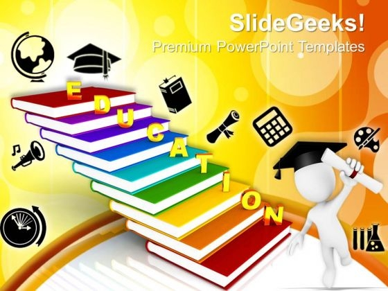 Education On Book As Staircase Future PowerPoint Templates And PowerPoint Themes 0912