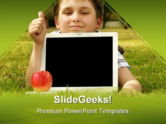 Educational Software Children PowerPoint Themes And PowerPoint Slides 0611
