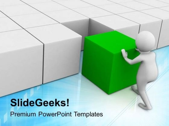 Efforts To Assemble The Cubes Business Concept PowerPoint Templates Ppt Backgrounds For Slides 0813