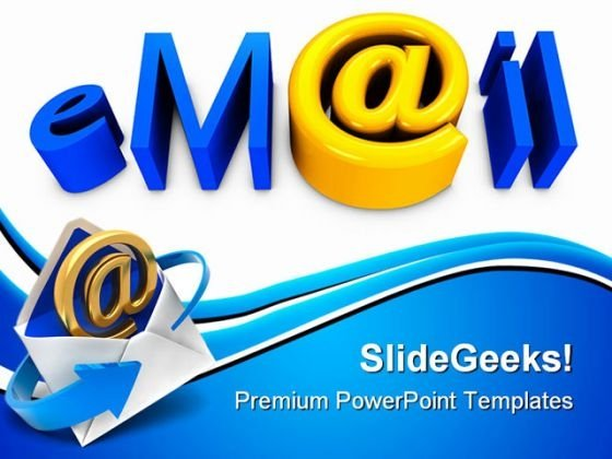 Email01 Internet PowerPoint Themes And PowerPoint Slides 0411