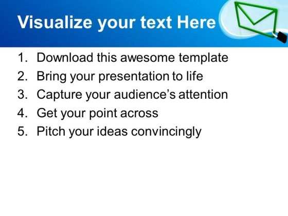 email locked confidential information security powerpoint, Powerpoint templates