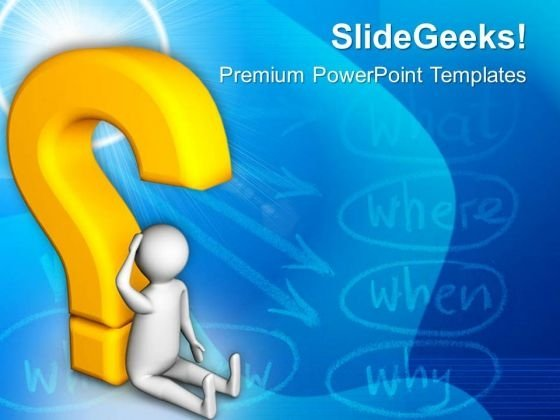 Emerging Questions In Human Mind PowerPoint Templates Ppt Backgrounds For Slides 0813