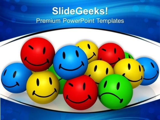 Emotion Icons Enjoyment Shapes PowerPoint Templates And PowerPoint Themes 0812
