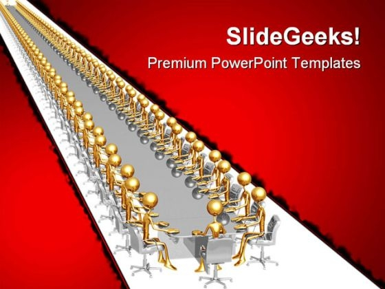 Endless Meeting Business PowerPoint Templates And PowerPoint Backgrounds 0711