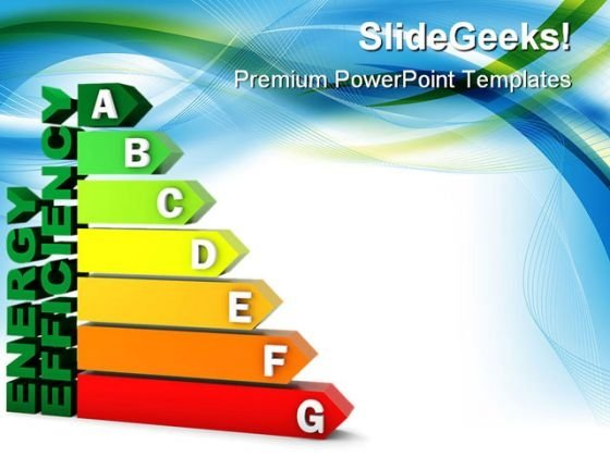 Energy Efficiency Chart Geographical PowerPoint Themes And PowerPoint Slides 0311