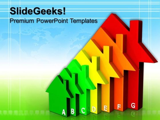 Energy Efficient Homes Geographical PowerPoint Templates And PowerPoint Themes 0812