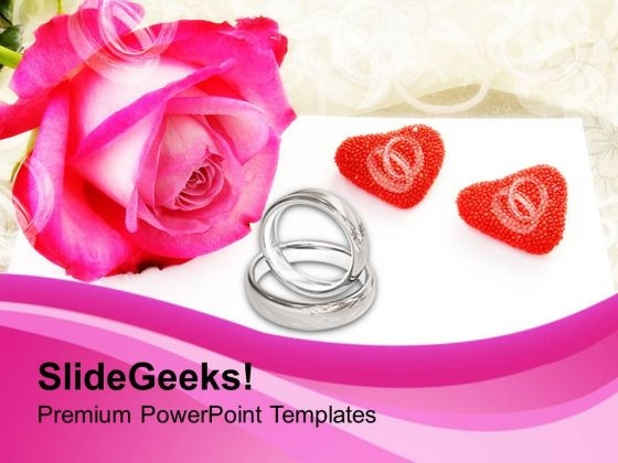 Engagement Time With Wedding Rings PowerPoint Templates Ppt Backgrounds For Slides 0313