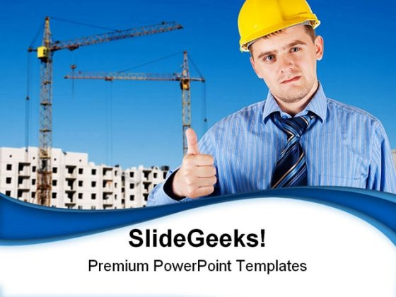 Engineer Construction PowerPoint Templates And PowerPoint Backgrounds 0411