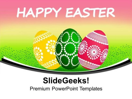 Enjoy Easter Celebration With Colored Eggs PowerPoint Templates Ppt Backgrounds For Slides 0613