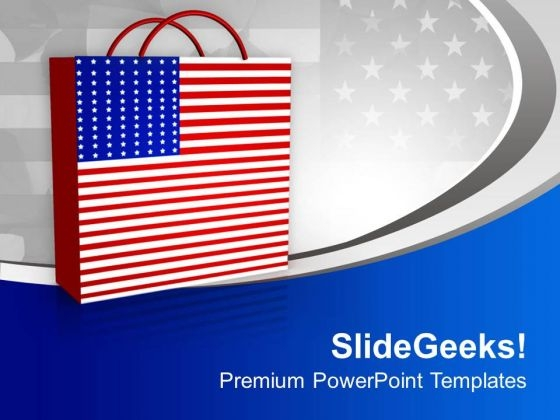 Enjoy Shopping In Abroad PowerPoint Templates Ppt Backgrounds For Slides 0613
