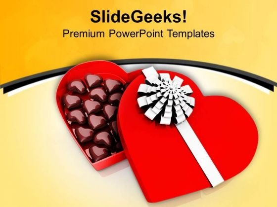 Enjoy Tasty Heart Shaped Chocolate PowerPoint Templates Ppt Backgrounds For Slides 0713
