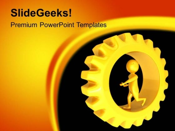 Enjoy The Geared Ride PowerPoint Templates Ppt Backgrounds For Slides 0613