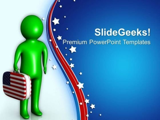 Enjoy The Holiday Of Independence Day PowerPoint Templates Ppt Backgrounds For Slides 0713