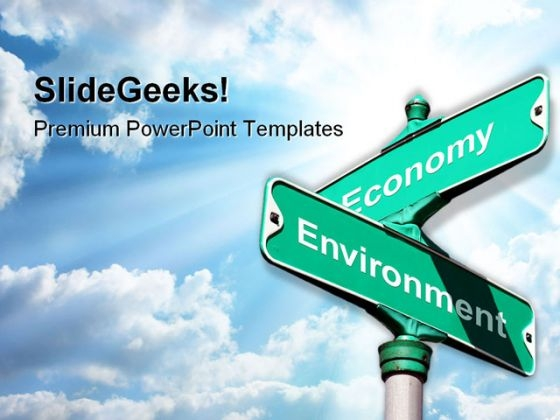 Environment Vs Economy Metaphor PowerPoint Themes And PowerPoint Slides 0811