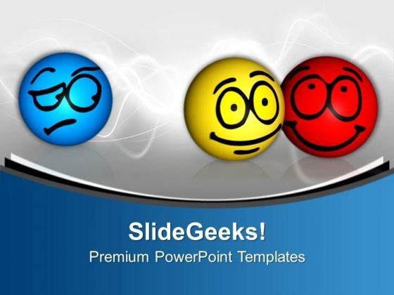Envy Isolated Different Emotions On Face PowerPoint Templates Ppt Backgrounds For Slides 0113