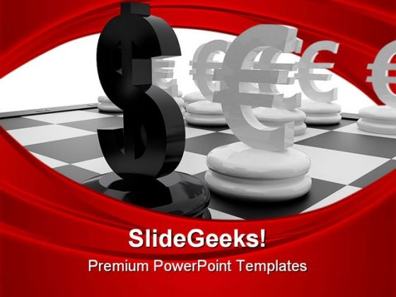 Euro And Dollar Sign Finance PowerPoint Themes And PowerPoint Slides 0311