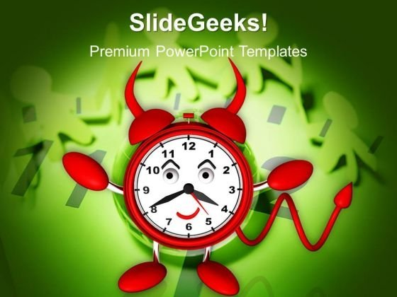 Evil Alarm Clock Danger PowerPoint Templates And PowerPoint Themes 1012