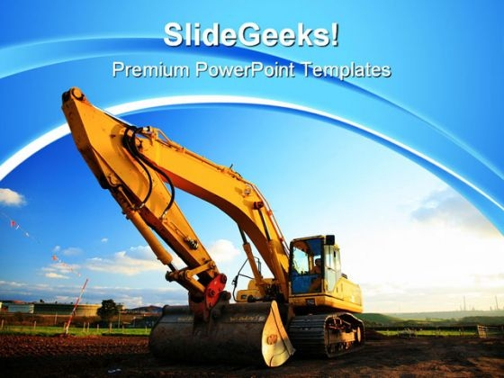 Excavator Construction PowerPoint Themes And PowerPoint Slides 0611