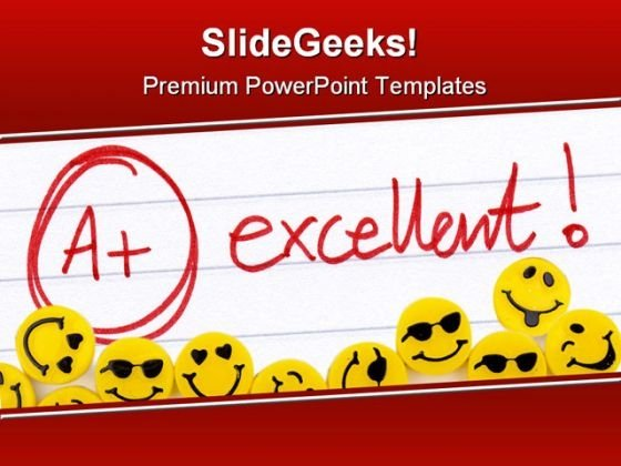 Excellent Smiley Abstract PowerPoint Template 0610