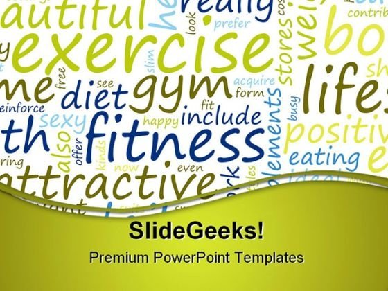 Exercise And Fitness Health PowerPoint Themes And PowerPoint Slides 0811