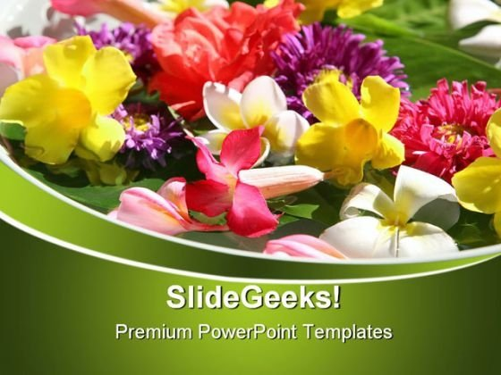 Exotic Coloured Flowers Beauty PowerPoint Themes And PowerPoint Slides 0311