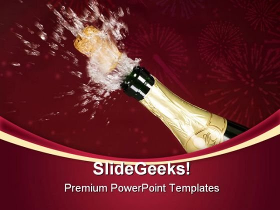 Explosion Of Champagne Success PowerPoint Templates And PowerPoint Backgrounds 0611
