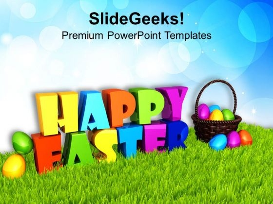 Express Your Wishes With Happy Easter Theme PowerPoint Templates Ppt Backgrounds For Slides 0313