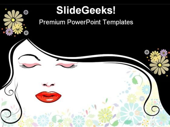 Face Blackhair Beauty PowerPoint Templates And PowerPoint Backgrounds 0511