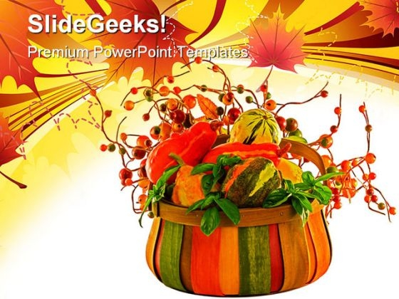 Fall Harvest Nature PowerPoint Themes And PowerPoint Slides 0511