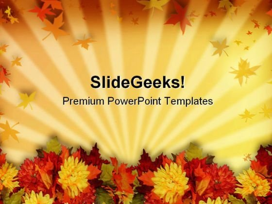 Fall Leaves Beauty PowerPoint Template 0610
