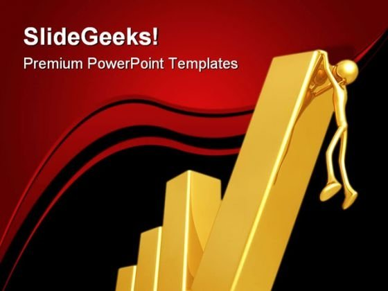 Falling Bar Business PowerPoint Themes And PowerPoint Slides 0711