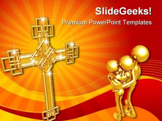 Family Faith Christ PowerPoint Template 0610