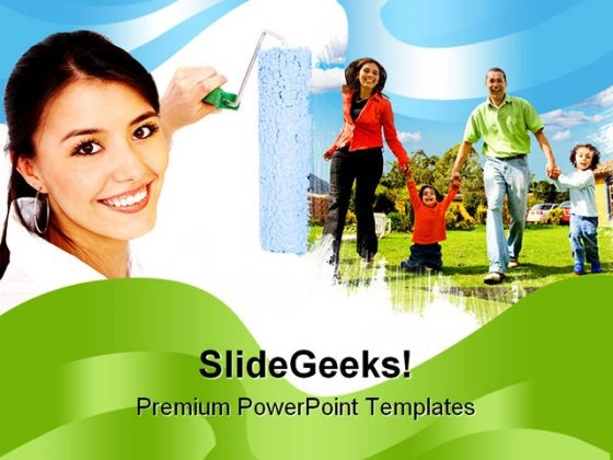 Family People PowerPoint Template 0810