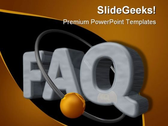 Faq Symbol PowerPoint Themes And PowerPoint Slides 0511