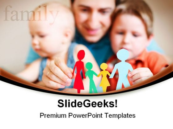 Father And Children Family PowerPoint Themes And PowerPoint Slides 0511